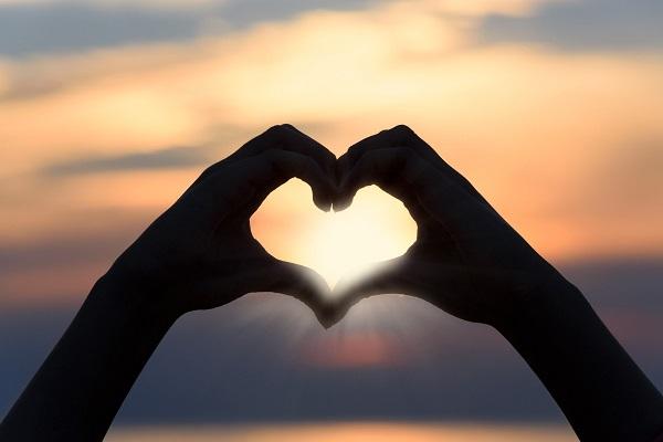 sunset-heart